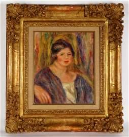 Pierre-Auguste Renoir Original Portrait Oil/Canvas