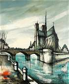 Francois Franc Parisian Scene of Notre Dame