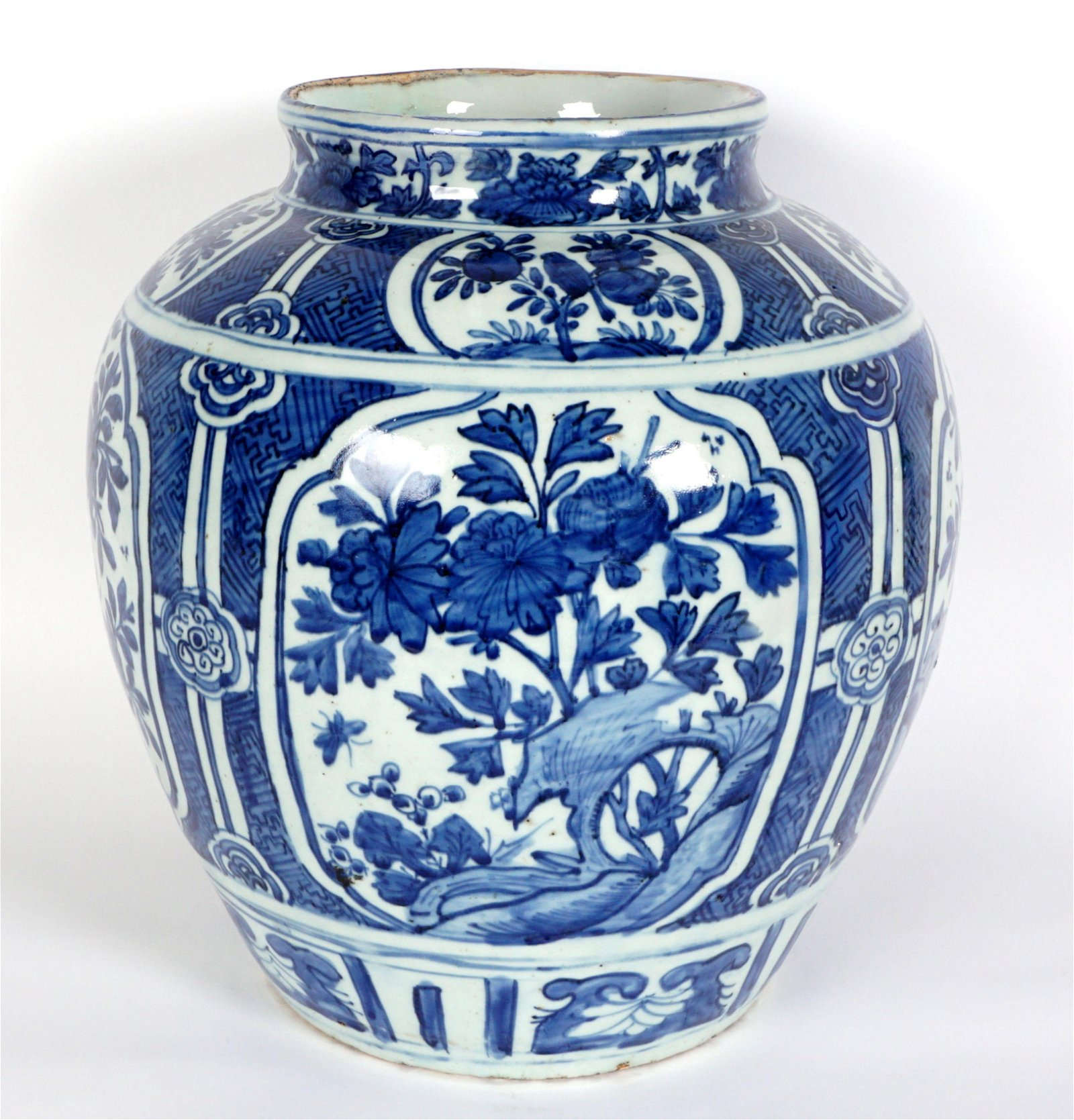 Chinese Ming? Blue and White Decorated Guan Jar