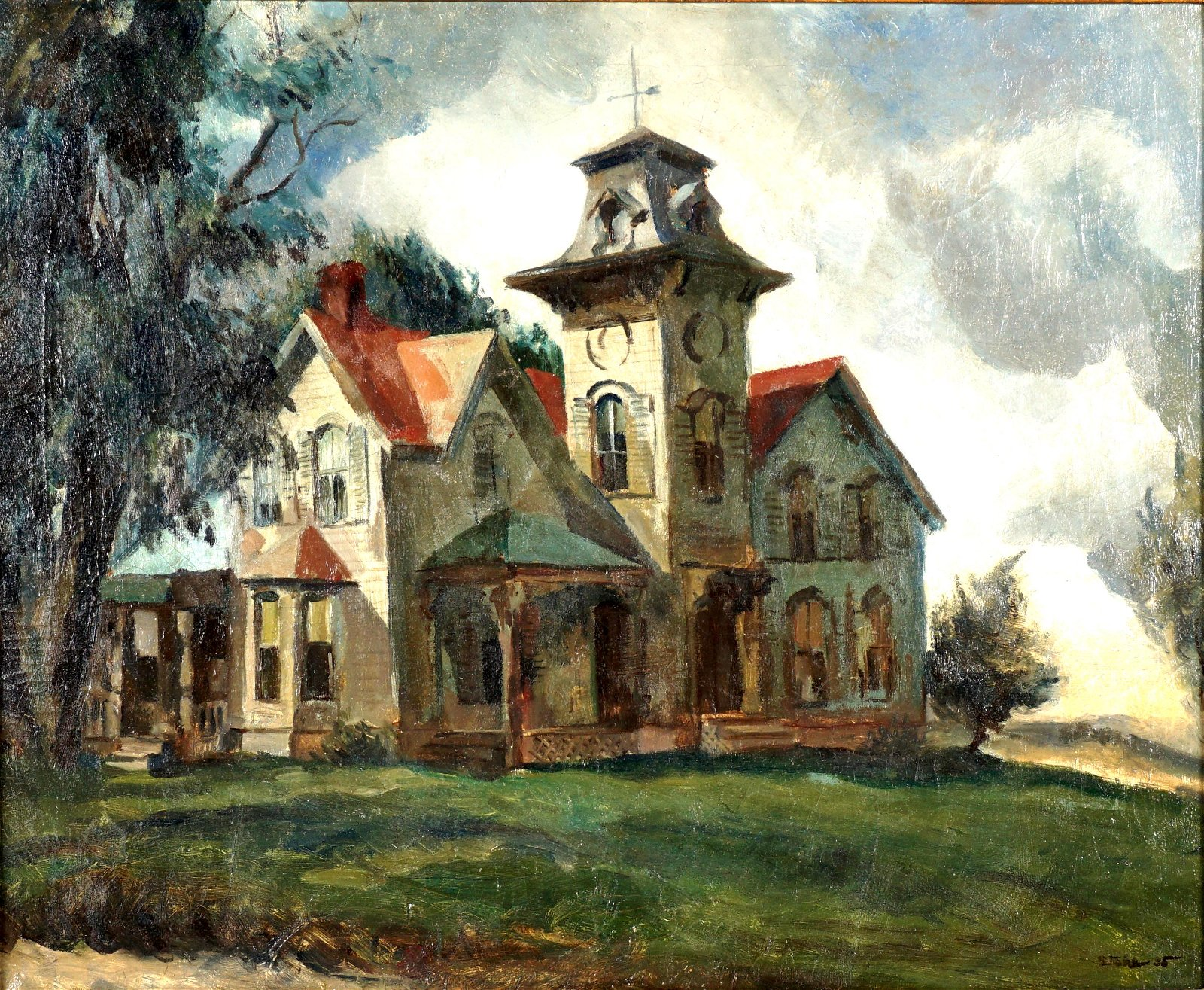 1935 Ben Stahl House in Landscape Painting