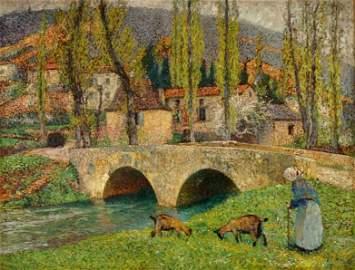 Henri Martin Bridge Labastide du Vert Oil/Canvas