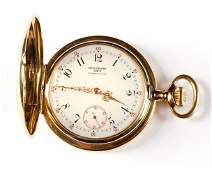 18k Gold Patek Philippe for Tiffany Pocket Watch