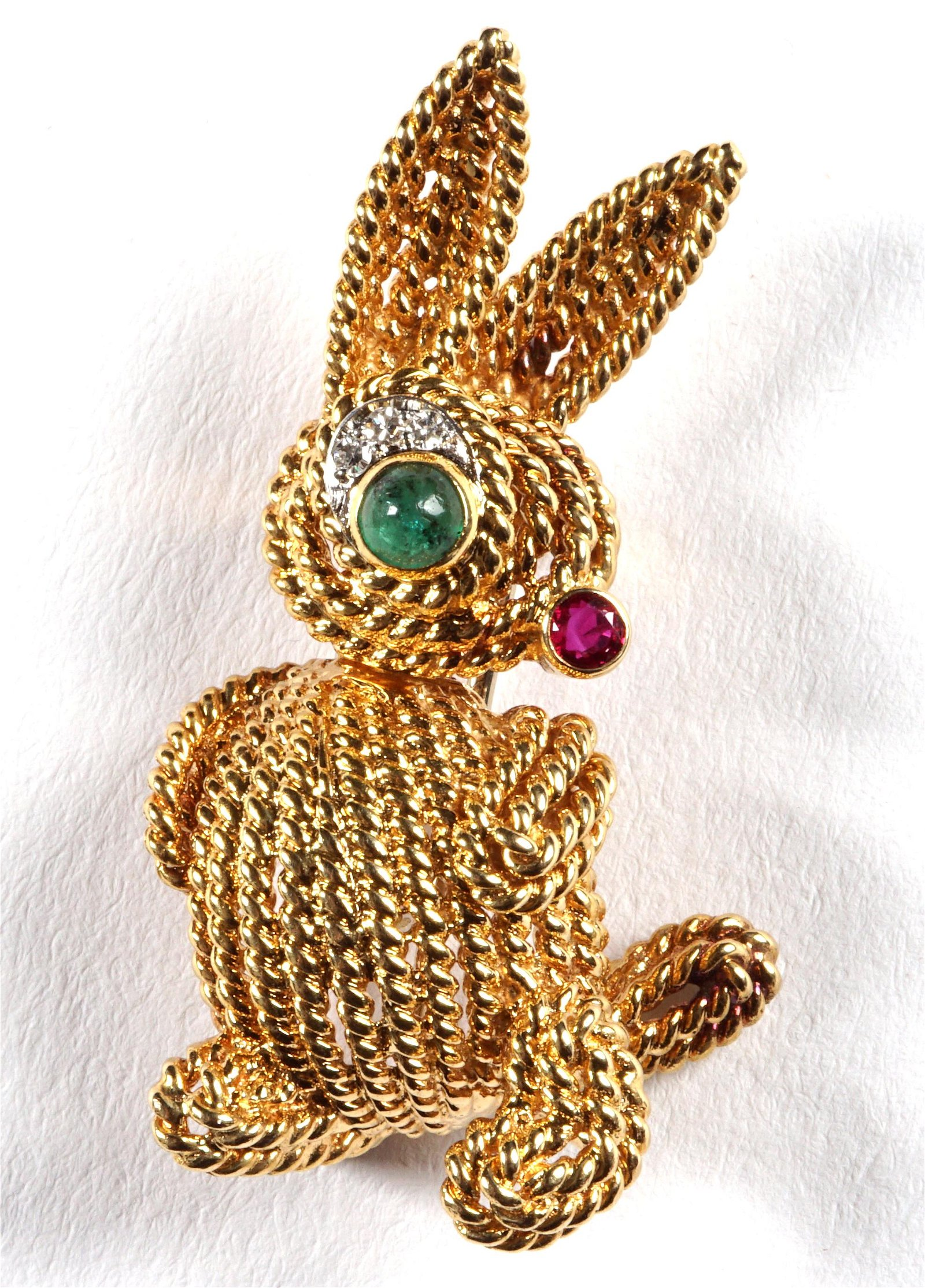 18k Gold Van Cleef & Arpels Rabbit Brooch