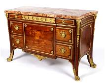 Signed Paul Sormani Louis XV Marble Top Commode