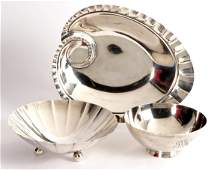 Three Tiffany & Co. Sterling Trays and Bowls