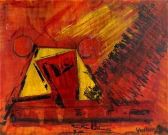 1973 Hale Aspacio Woodruff Abstract Acrylic