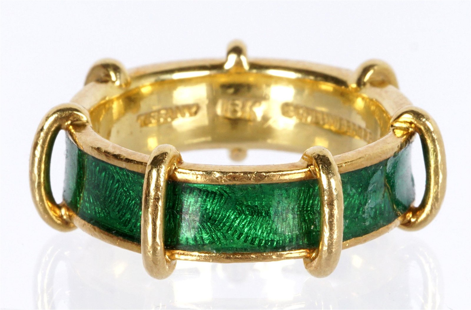 Schlumberger for Tiffany 18k Gold and Enamel Ring