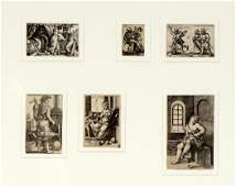 Six Georg Pencz  Hans Sebald Beham Engravings