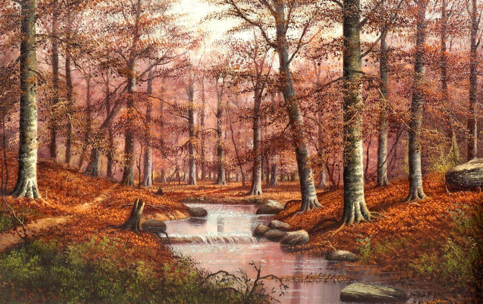 Pearl Snyder Wade Indiana Autumnal Landscape