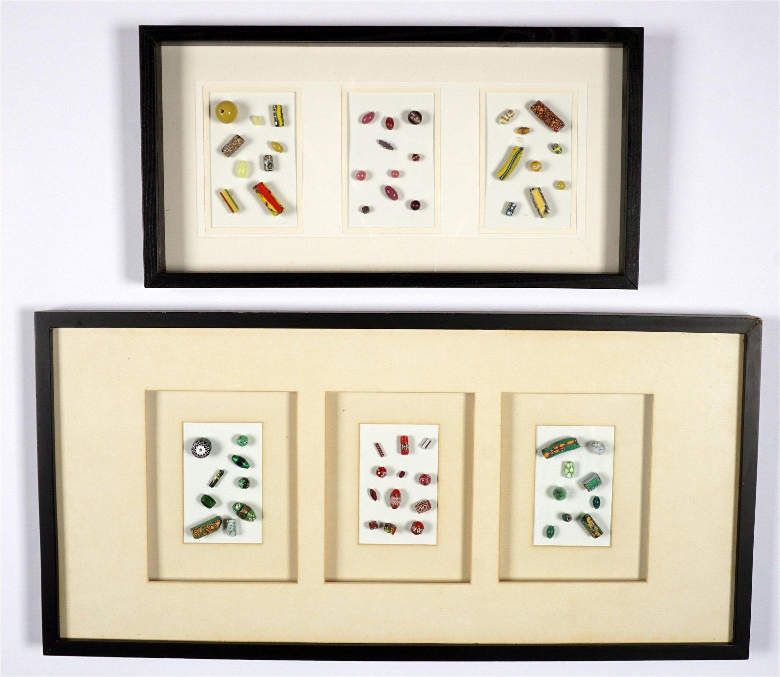 Two Framed Sets of Venetian Trade Beads