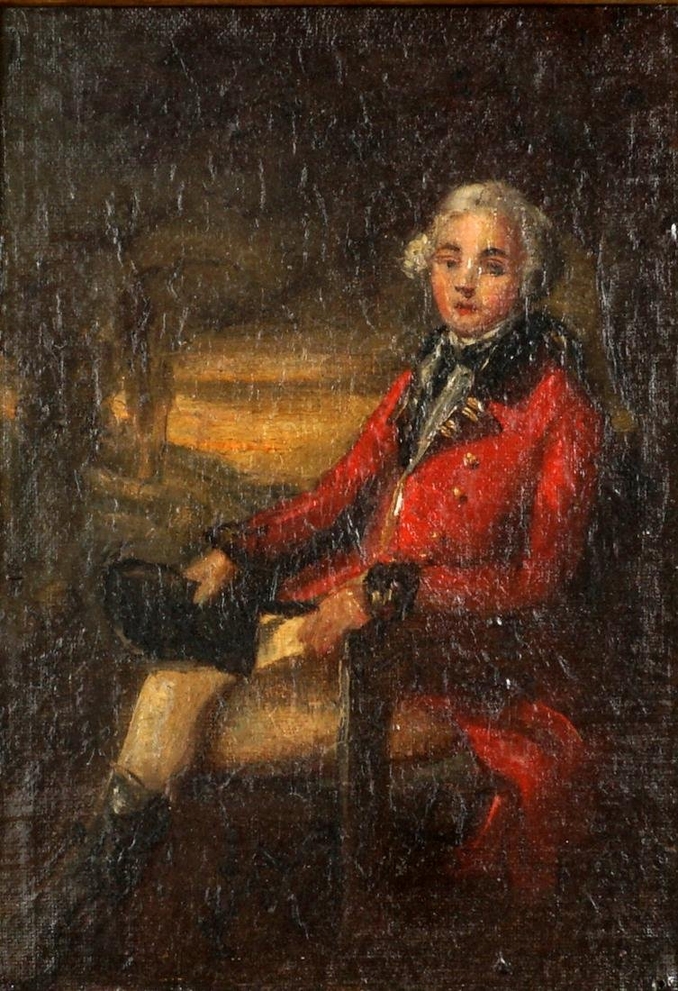 attrib. Henry Raeburn Portrait of English Officer