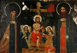 Large Greek Orthodox Icon Painting
