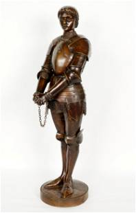 Louis Ernest Barrias Joan of Arc Bronze