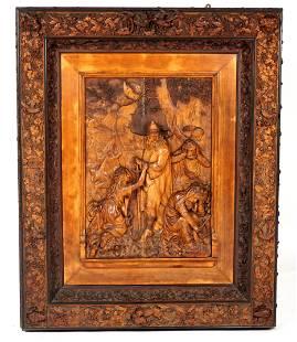 Maximilian M Schwarzott Carved Religious Plaque