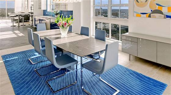 Adler Marble Dining Table & Eight Calligaris Chair
