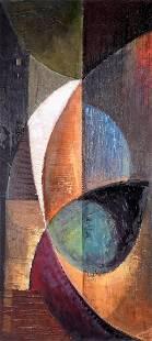 1987 Chuks Anyanwu African Abstract Painting
