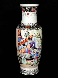 Chinese Polychrome Decorated Porcelain Vase
