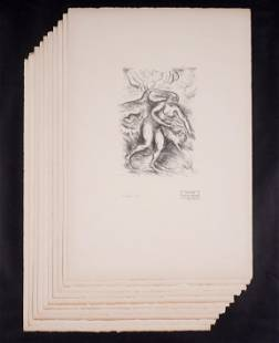 Ten Achille OthonFriesz Nymphe Lithographs