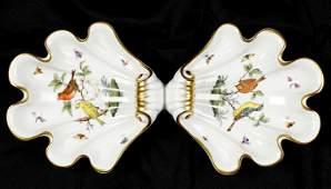 Herend Rothschild Bird Double Shell Dish