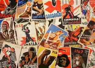 20 Spanish Civil War Propaganda Postcards
