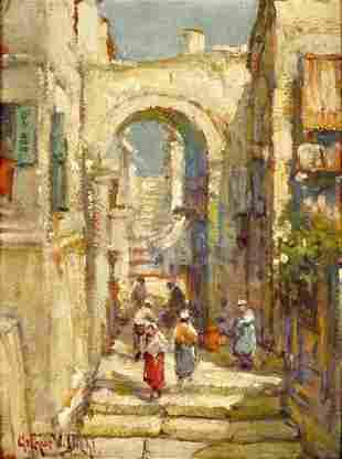 Arthur Diehl Italian City Painting