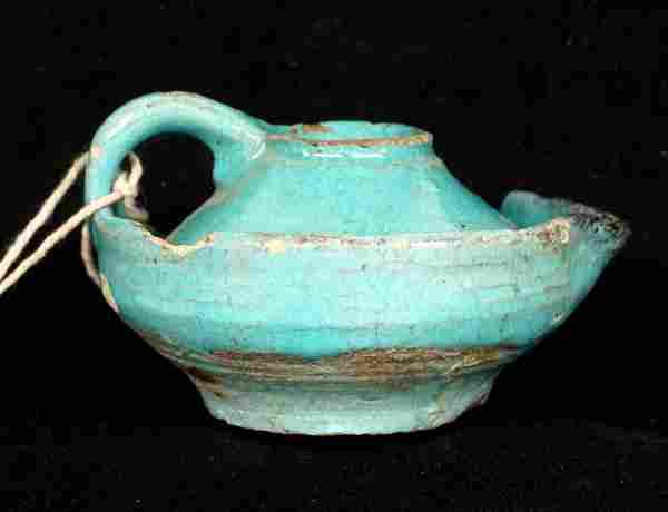 Ex-Blanchard Museum Egyptian Oil Lamp Tut's Tomb