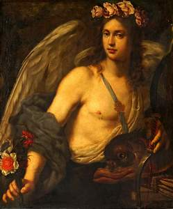 attrib. Carlo Dolci Allegorical Angel Painting