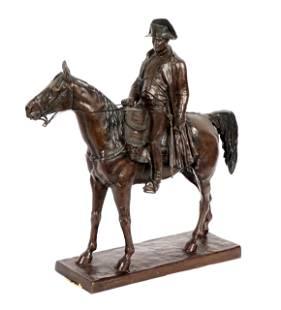 After Louis Moris Bronze Napoleon on Horseback