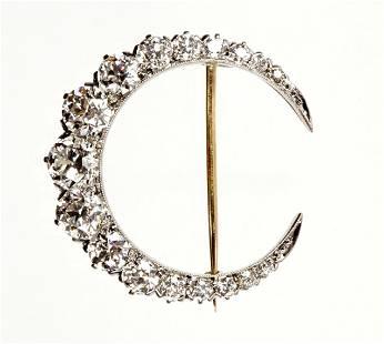 Tiffany & Co. Gold & Diamond Crescent Brooch