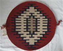 round navajo textile