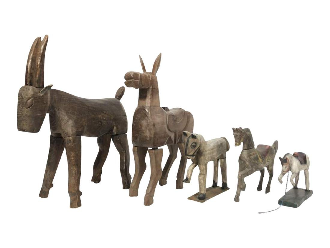 Collection of Carved Horses, Spanish Colonial