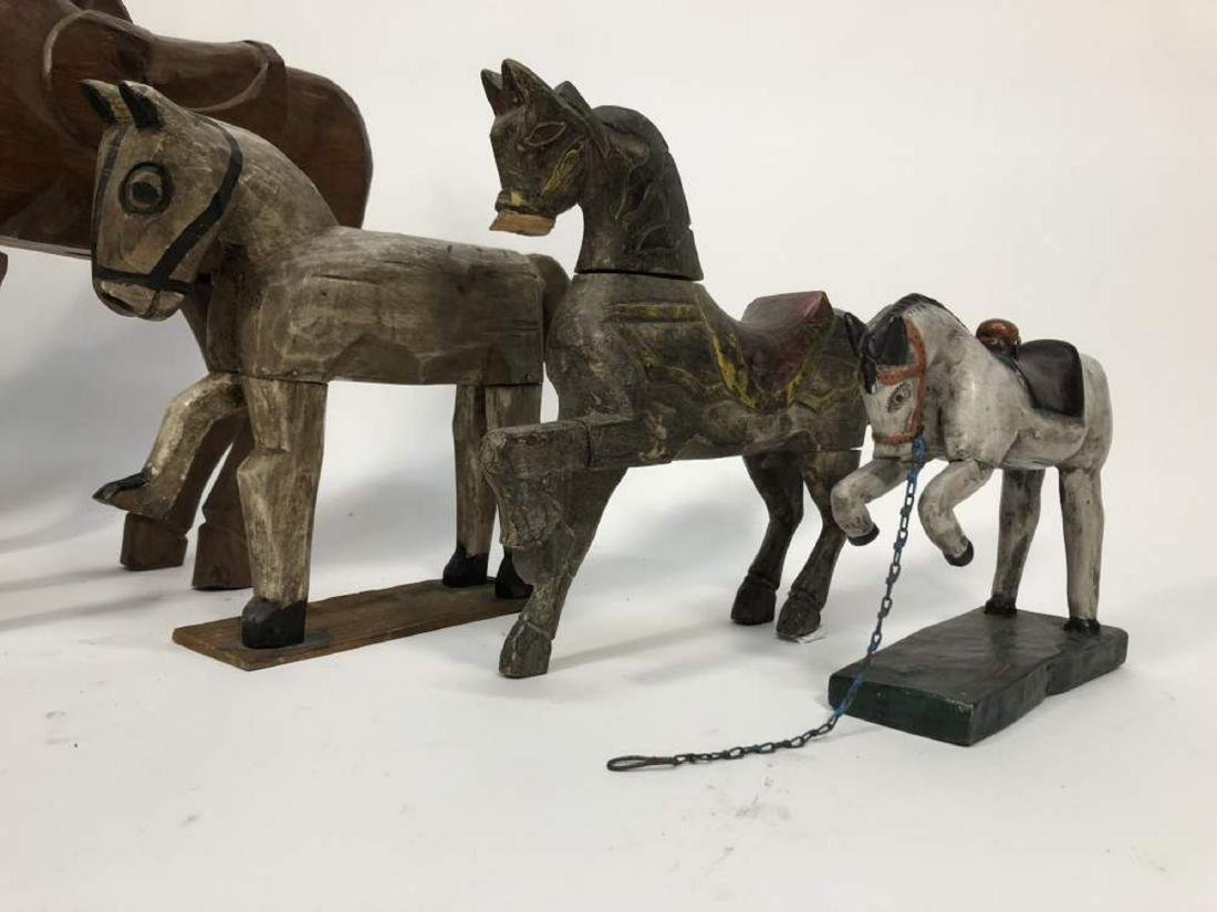 Collection of Carved Horses, Spanish Colonial - 4