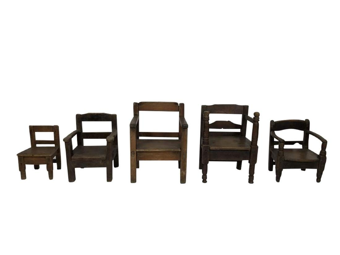 Grouping Miniature Chairs, Spanish Colonial
