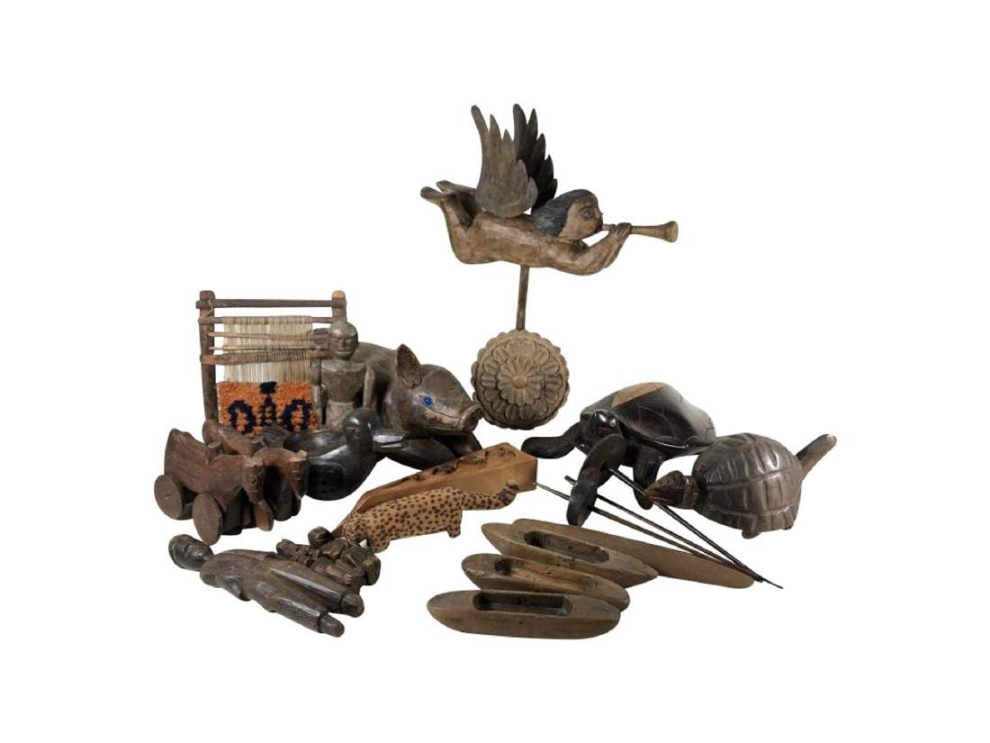 Grouping of Interesting Wooden Items, Spanish Colonial