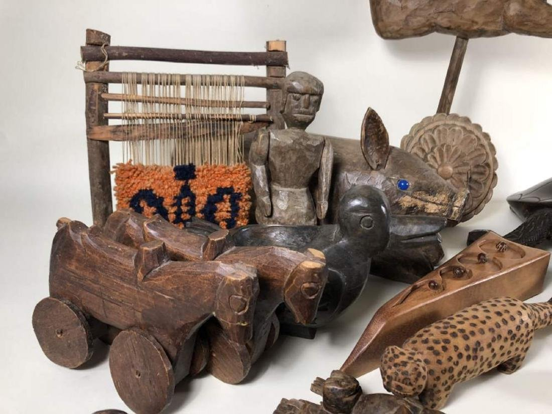 Grouping of Interesting Wooden Items, Spanish Colonial - 3
