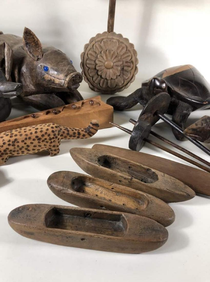 Grouping of Interesting Wooden Items, Spanish Colonial - 6