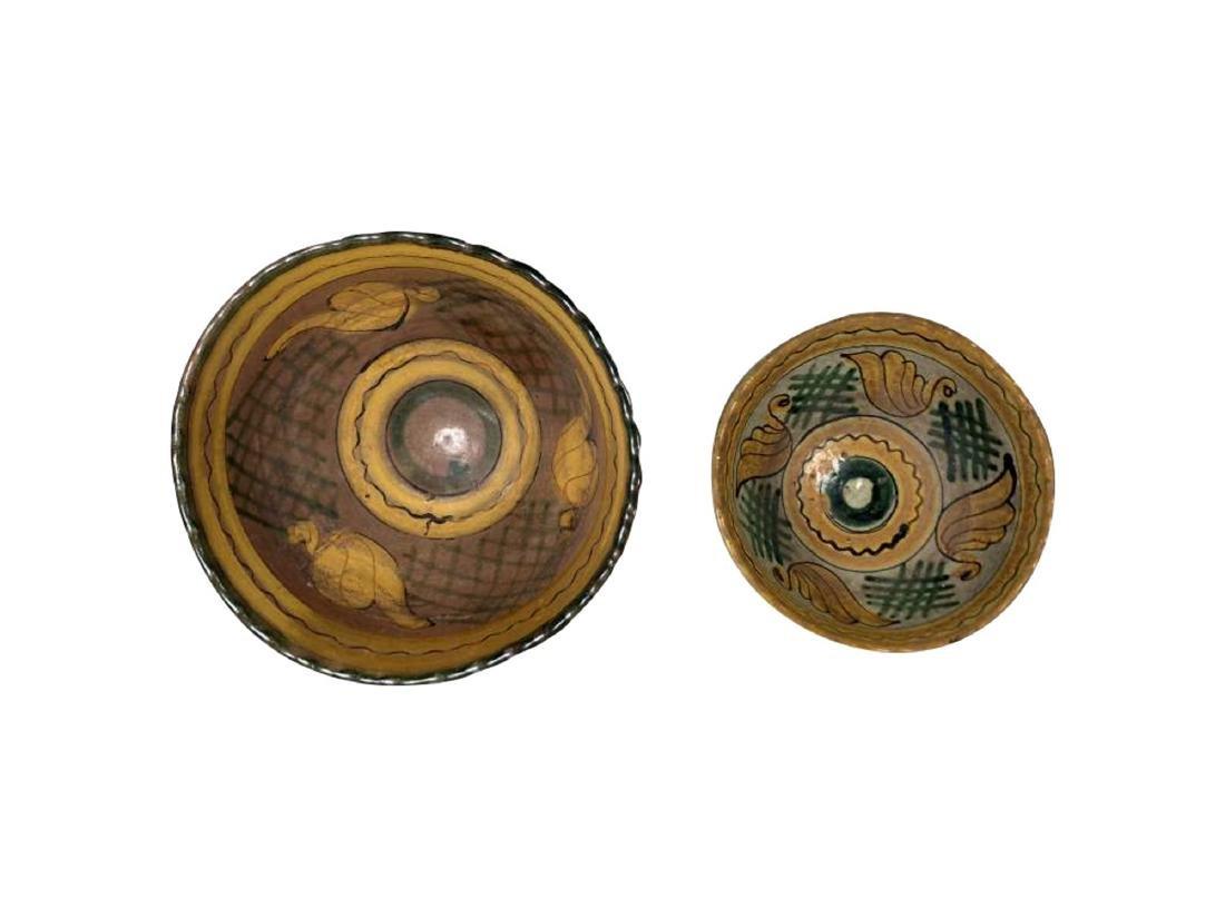 Two Montiel Studio Majolica Bowls, Guatemalan