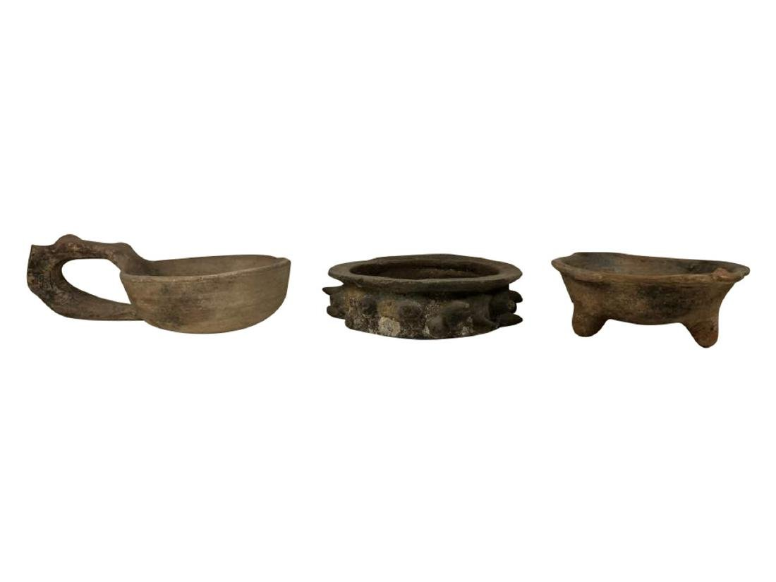 Three Teotihuacan Mayan and Pre-Mayan Vessels