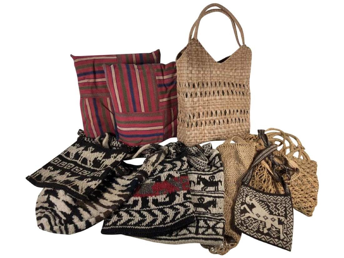 Collection of Textiles and Bags, South American