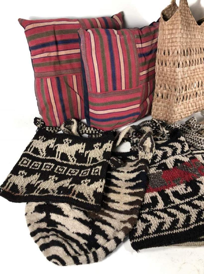 Collection of Textiles and Bags, South American - 2