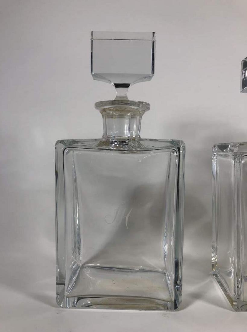 Set of Three Moser Crystal Decanters - 2