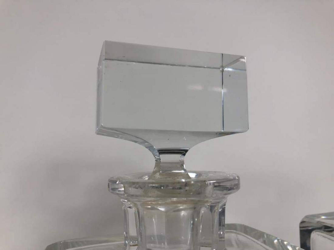 Set of Three Moser Crystal Decanters - 4