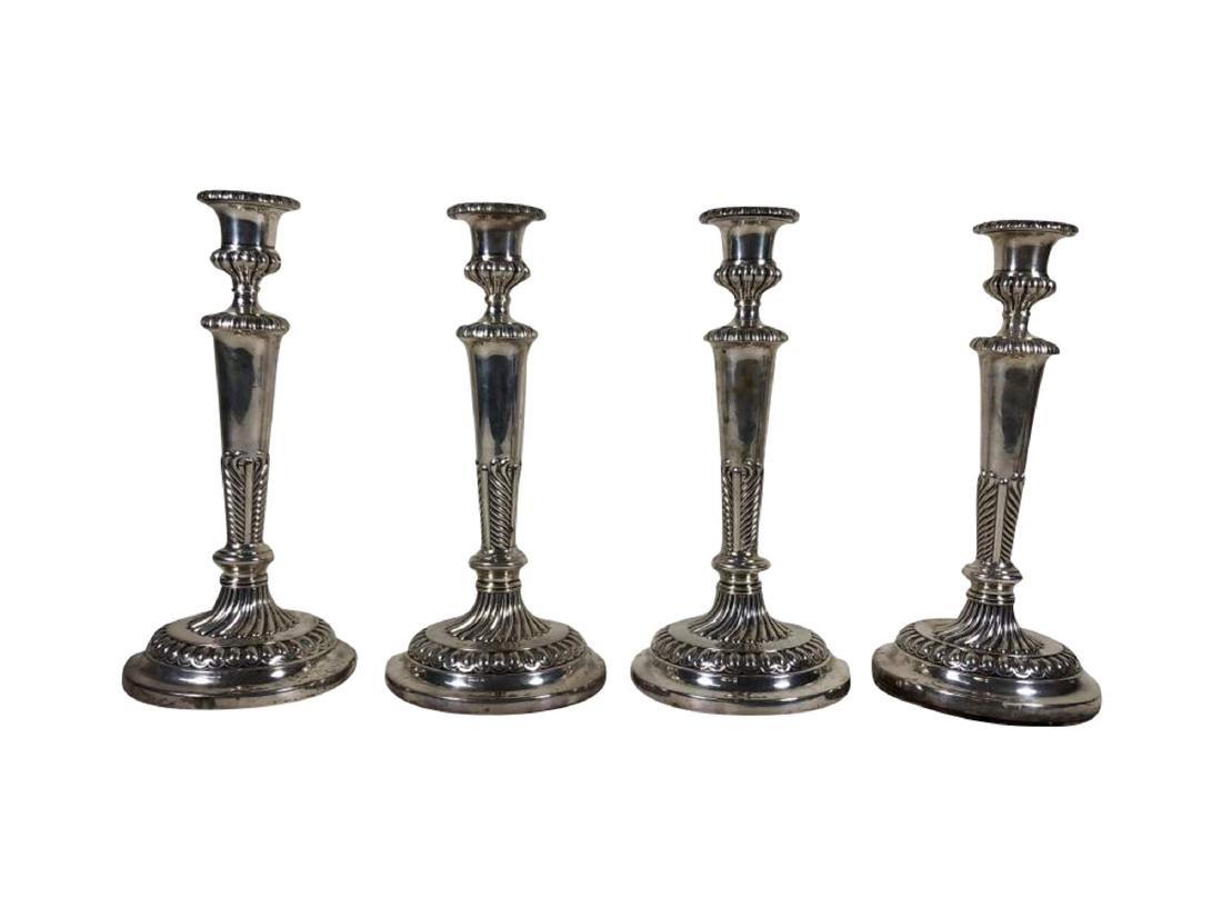 Four George III Sterling Silver Candlesticks
