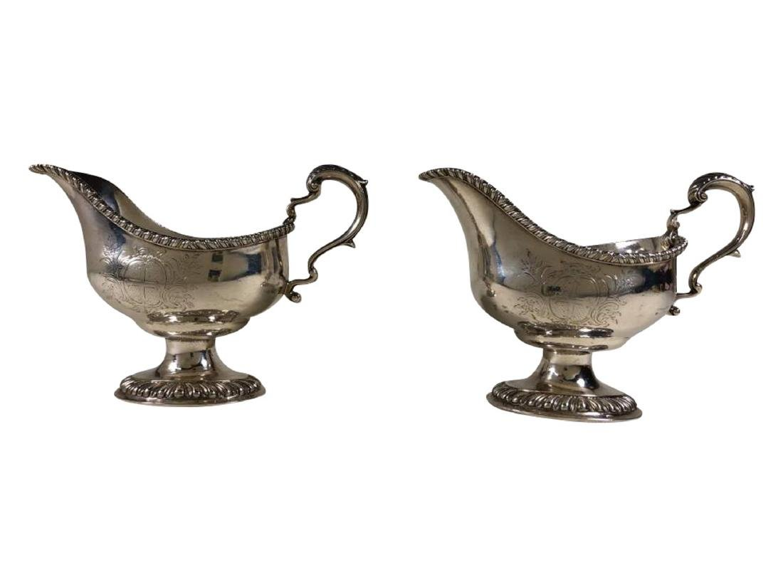 Pair of George III Sterling Silver Sauce Boats