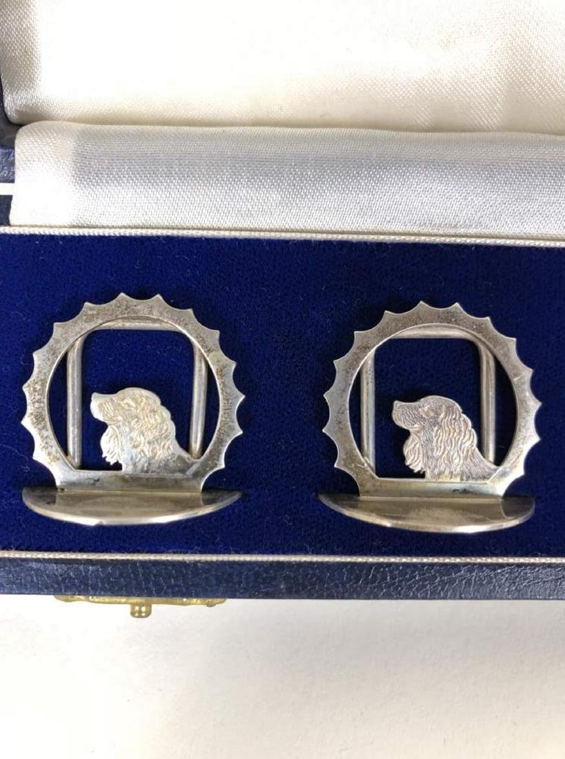 Two Boxed Sets of Sterling Silver Place Card Holders - 8