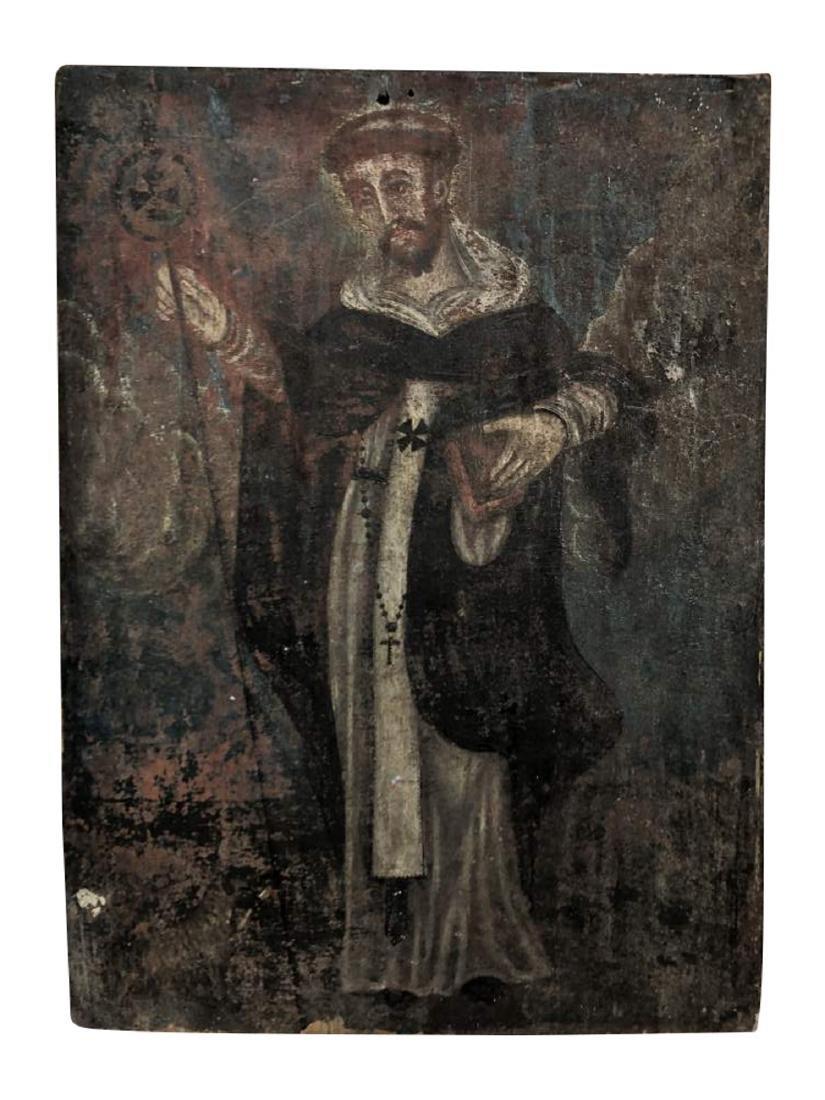 Polychrome Retablo of Saint Francis Assisi