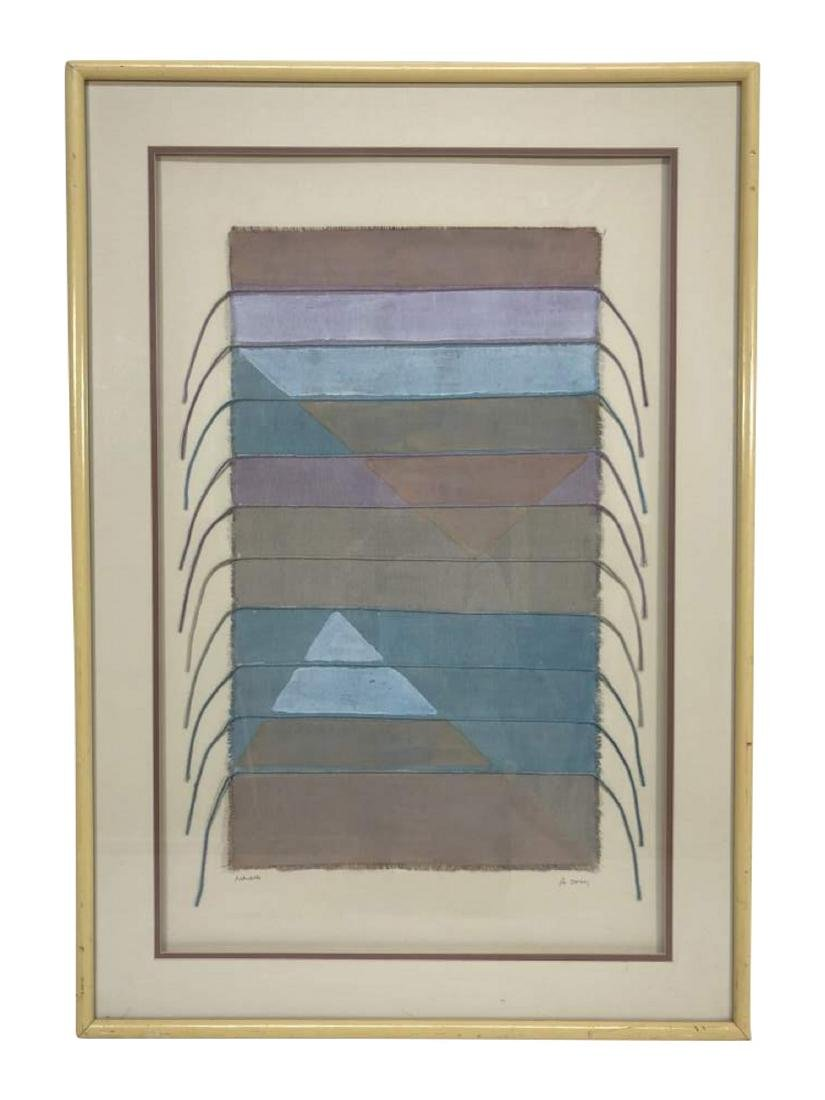 Framed Navajo Textile