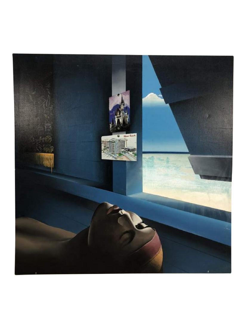 "Acrylic on Canvas, ""Siesta"" by David Smith"