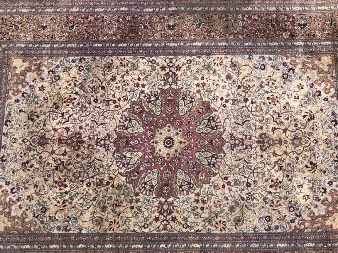Antique Hand Woven Nain Carpet - 2