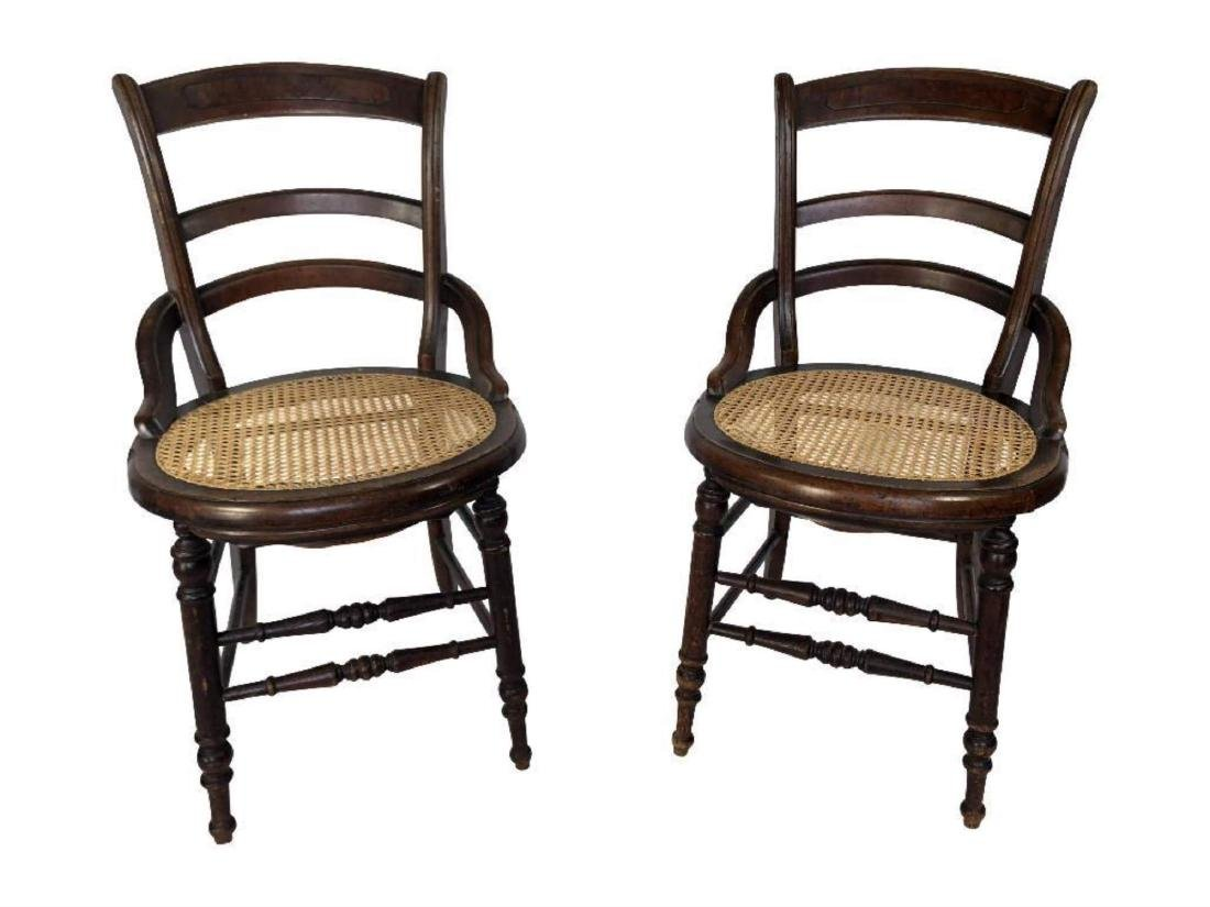 Pair Of Antique Wooden Chairs With Cane Seats Jul 08 2018 Hatch